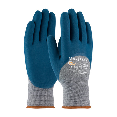 MaxiFlex 34-9025 Gloves with Nitrile Micro-Foam Grip (Dozen)