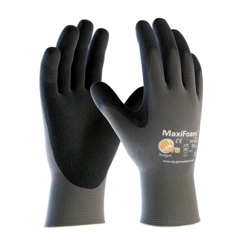 MaxiFoam 34-900 Glove with Nitrile Coated Foam Grip (12 pack)