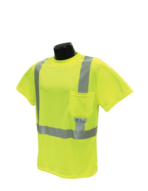 Radians ST11-2PGS Class 2 Hi-Viz Lime Safety T-Shirt with Max-Dri