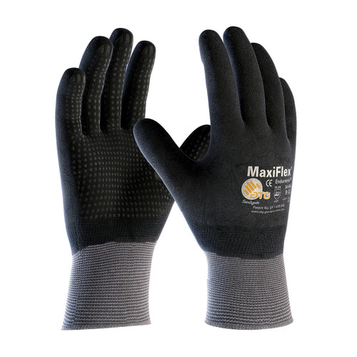 MaxiFlex 34-846 Gloves with Nitrile Micro-Foam Grip on Full Hand