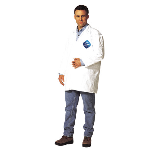 Dupont TY212S Tyvek All Purpose Lab Coat (Case/30 Coats)