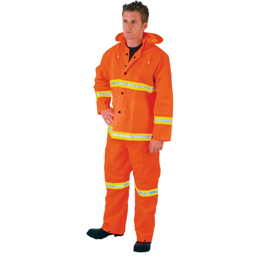 River City 2013R 3-Piece High Visibility Orange Rain Suit