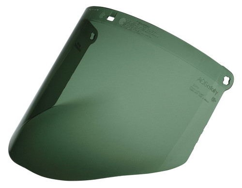 3M 82702 Easy-Change Dark Green Polycarbonate Faceshield