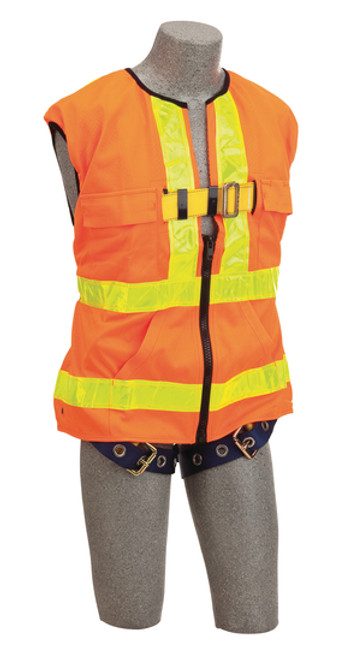 DBI SALA Delta Vest Hi-Vis Reflective Workvest Harness Orange