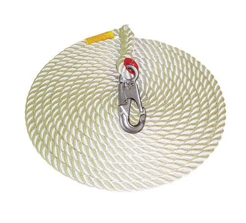 Protecta 1299998 Rope Lifeline with Snap Hook 100'