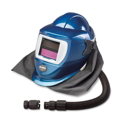 Allegro 9904-HCW Deluxe Supplied Air Shield and Welding Helmet (Blue)