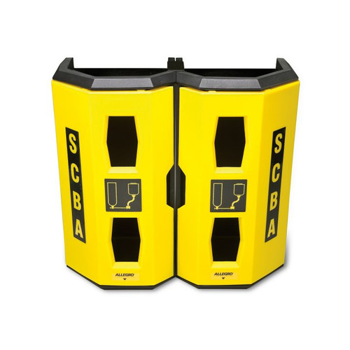 Allegro 4325 Yellow Dual SCBA Wall Case