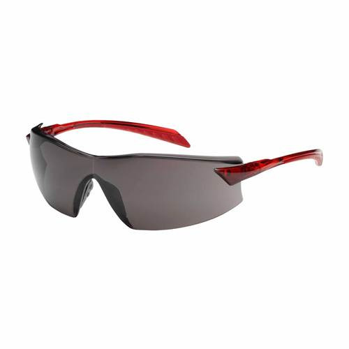 Bouton 250-45-1021 Safety Glasses Anti-Fog Gray Lens Red Frame (Each)