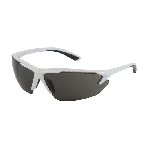 Bouton 250-48-0021 Safety Glasses Gray Lens Anti-Fog with White Frame