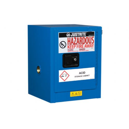 Justrite 860428 Hazardous Material Cabinet Cap 4 Gal