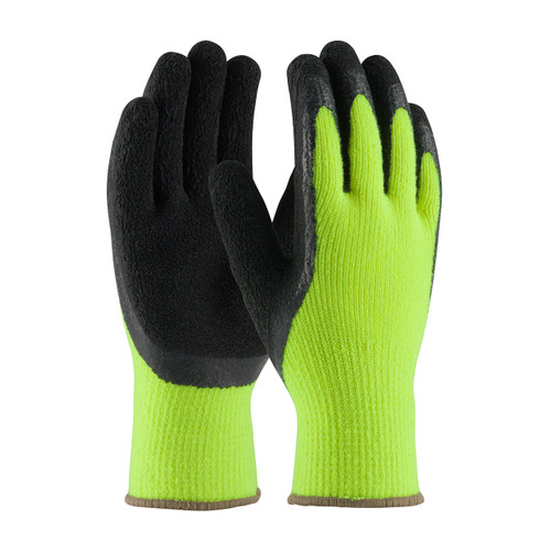 PIP 41-1420 HiViz Lime Gloves Seamless Knit with Latex Grip (Dozen)