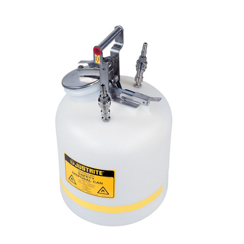 Justrite TF12755 Disposal Safety Can Stainless Steel 5 Gal