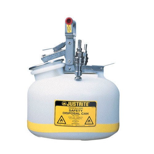 Justrite TF12752 Disposal Safety Can Stainless Steel 2 Gal