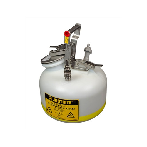 Justrite BY12755 Quick Disposal Safety Can Stainless Steel 5 Gal