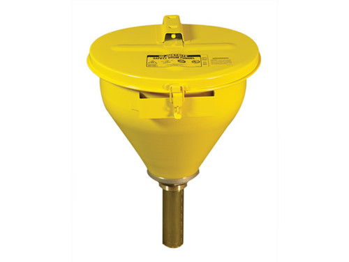 Justrite 08206 Large Steel Drum Funnel
