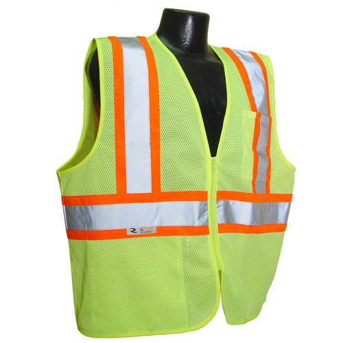 Radians SVE1-2ZOM-L//XL Economy Type R Class 2 Safety Vest Hi-Viz Orange Large//X-Large