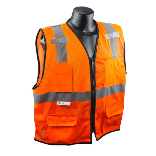 Radians SV7E-2ZOM Surveyor Class 2 Safety Orange Vest