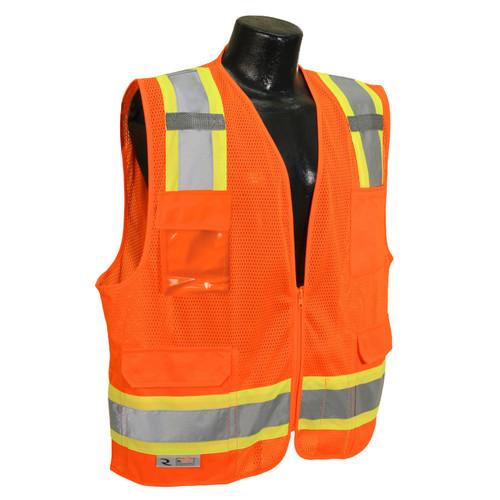 Radians SV6-2ZOM Orange Mesh Two Tone Surveyor Class 2 Safety Vest