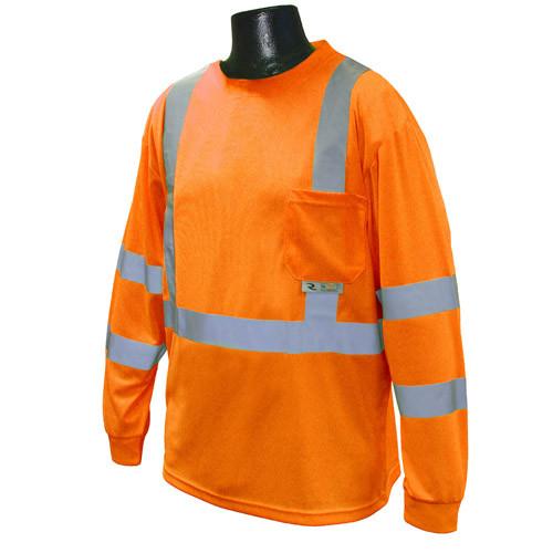 Radians ST21-3POS Class 3 Orange Long Sleeve T-shirt with Max-Dri