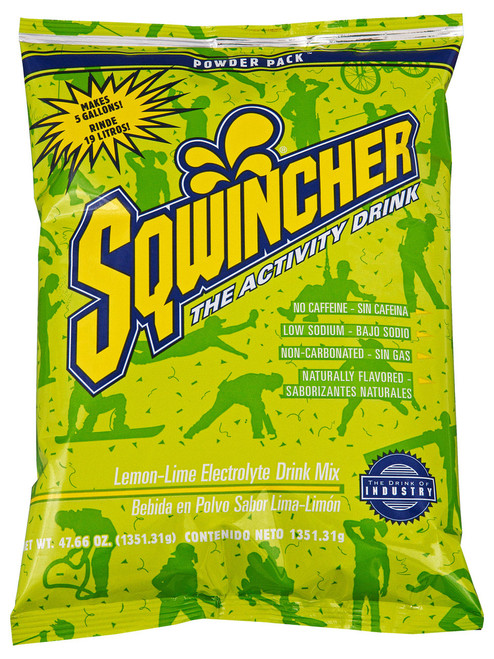 Sqwincher 016408-LL Lemon Lime 47.66 oz. Powder Pack Dry Mix (16/Case)
