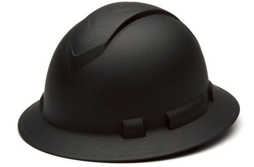 Pyramex Ridgeline Graphite Full Brim Hard Hat with Standard Ratchet