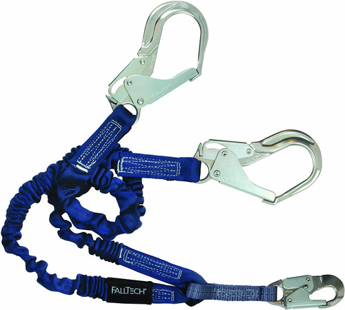 FallTech Double Leg 6' Lanyard with Rebar Hooks