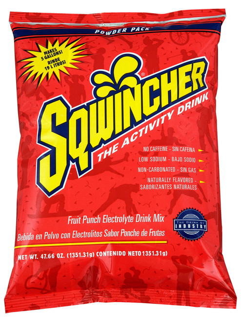 Sqwincher 016405-FP Fruit Punch Powder Pack Dry Mix (16/Case)