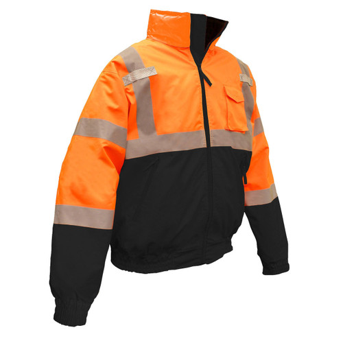 Radians SJ110B-3ZOS High-Viz Orange Class 3 Bomber Winter Jacket
