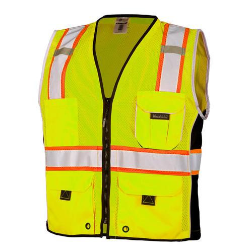 ML Kishigo 1513 Heavy Duty Lime Safety Vest Style Class 2