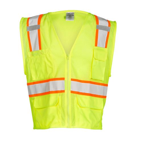 ML Kishigo 1195 All Mesh Lime Safety Vest Class 2