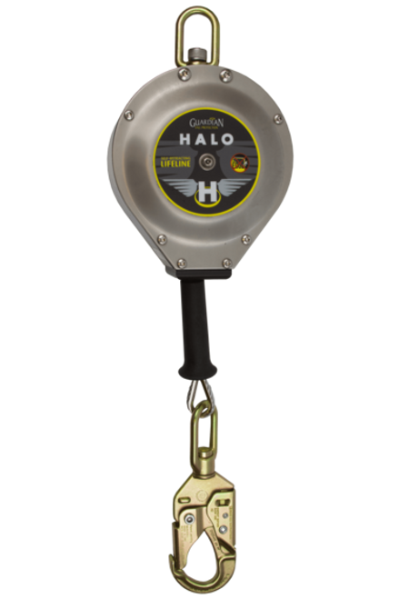 Guardian 10910 Halo Series Cable SRL Galvanized Cable Carabiner 20'