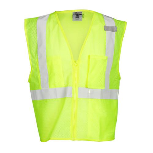 ML Kishigo 1085 Lime Class 2 with 3 Pocket Zipper Mesh Vest