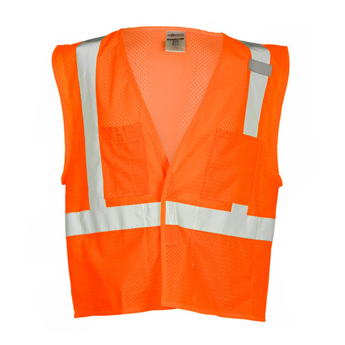 ML Kishigo 1084 Class 2 Orange 4 Pocket Hook and Loop Mesh Vest