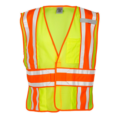 ML Kishigo 1166 Class 2 Lime 4 Season Adjustable Mesh Vest