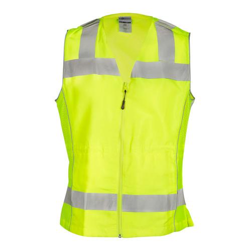 Fits Small and Medium Lime Black ML Kishigo 1509 Ultra-Cool Polyester Black Bottom Vest