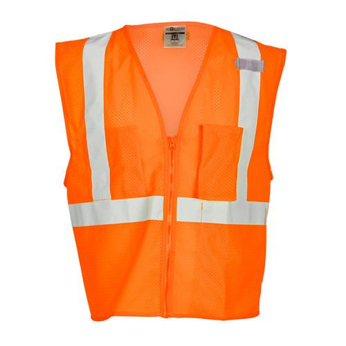ML Kishigo 1086 Orange Class 2 with 3 Pocket Zipper Mesh Vest