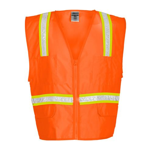 ML Kishigo 1091 Orange Multi-pocket Surveyors Vest