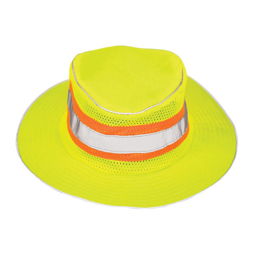 ML Kishigo 2824 Lime Full Brim Safari Hat Size L-XL