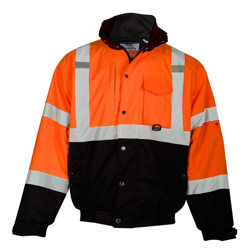 ML Kishigo JS131 Class 3 Orange Ripstop Bomber Jacket