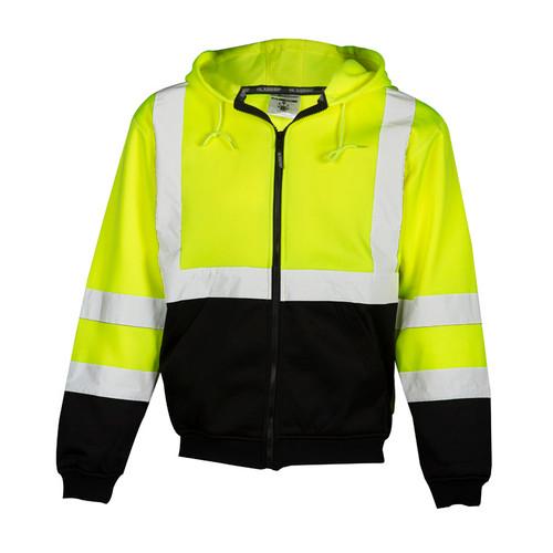 ML Kishigo JS102 Lime Hoodie Sweatshirt with Zipper