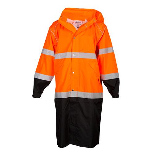 ML Kishigo RWJ109 Class 3 Orange Long Rain Coat