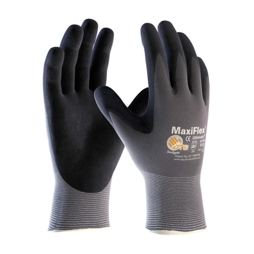 MaxiFlex 34-874 Gloves Nitrile Micro-Foam Grip Palm & Fingers (Dozen)