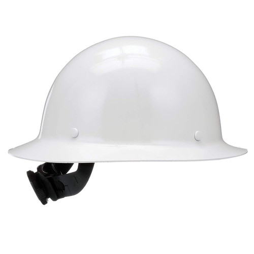 MSA Skullgard White Full Brim Hard Hat with Fas-Trac