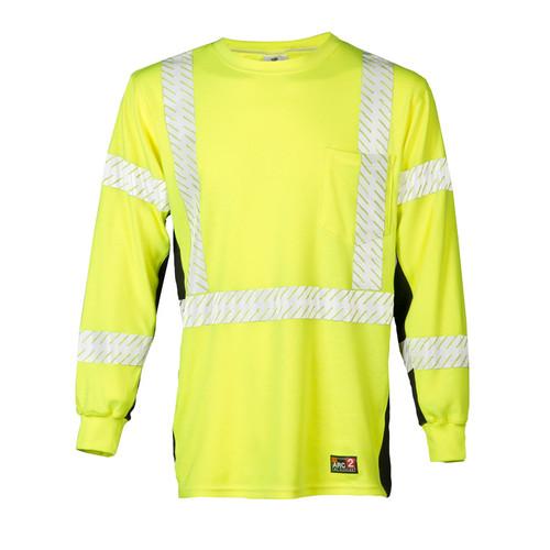 ML Kishigo F406 Lime FR Long Sleeve Hi Viz T-Shirt