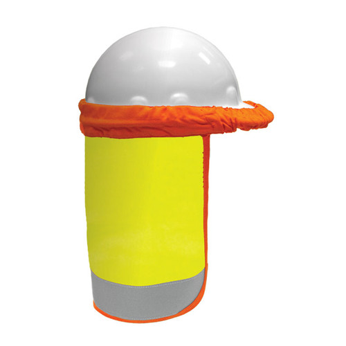 ML Kishigo F2800 FR Lime Hard Hat Sun Shield