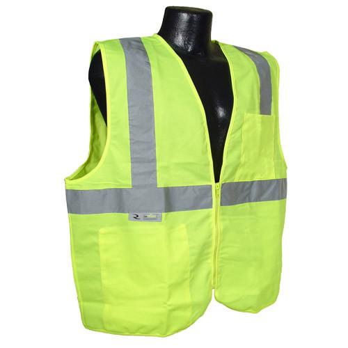 Radians SV2Z Hi Viz Class 2 Safety Solid Vest with Zipper