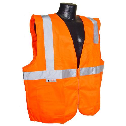 Radians SV2ZOS Hi Viz Class 2 Orange Safety Solid Vest with Zipper