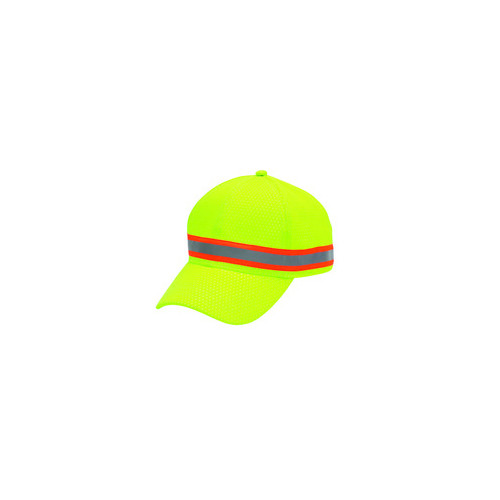All Safe 20349 Lime Hi-Vis Reflective Ball Cap