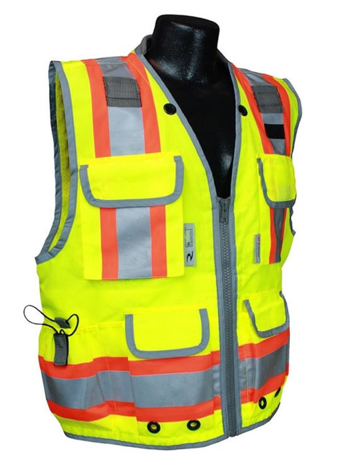 Radians SV55-2ZGD Class 2 Woven Two Tone Green Engineer's Safety Vest