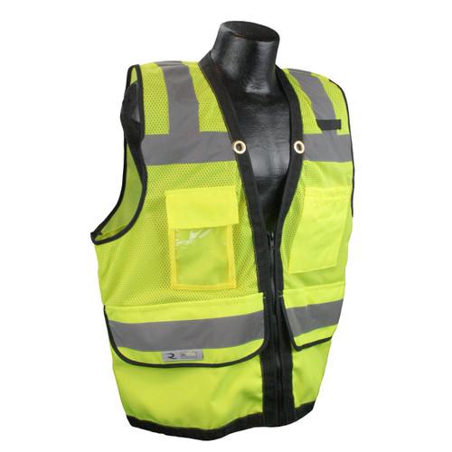 Radians SV59Z-2ZGD Class 2 Green Surveyors Safety Vest with Zipper